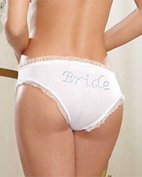 Dreamgirl Rhinestone Bride Back Hipster Panty