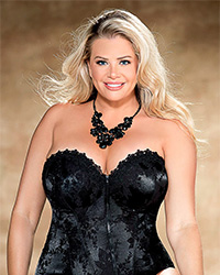 Shirley of Hollywood Tapestry Corset full figure