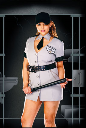 Dreamgirl Full Figure Corrections Officer Costume