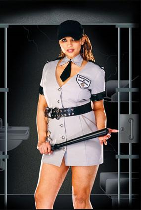 full figure corrections officer costume