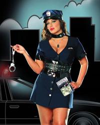 dreamgirl full figure corrupt cop costume