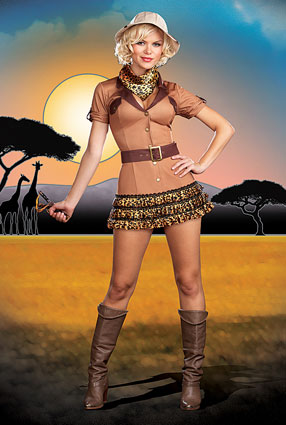 dreamgirl on the hunt costume 5847