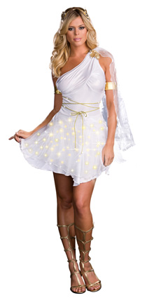 glowing goddess costume