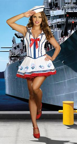 Dreamgirl Sexy Sailor Costume Anchor Management