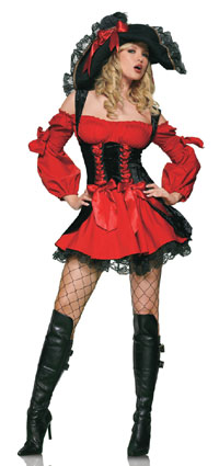leg avenue vixen pirate wench costume