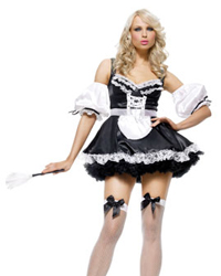 leg avenue sexy french maid costume