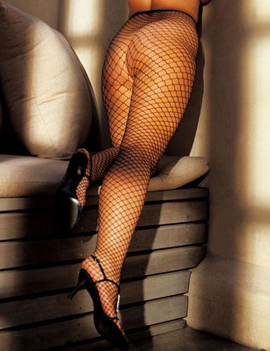 Shirley of Hollywood Queen Pantyhose Fishnet Stockings