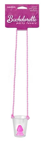 bachelorette party penis shot glass necklace