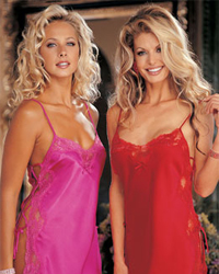 Shirley of Hollywood Charmeuse and Dyed-To-Match Lace Chemise