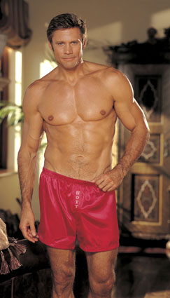 Shirley of Hollywood Men's Charmeuse Boxers